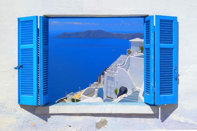 Hòn đảo hút khách bởi kiến trúc xanh - trắng ở Hy Lạp