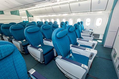 Khoang hạng Phổ thông đặc biệt mới ra mắt trên máy bay thân rộng Airbus A350 và Boeing 787-9. Ảnh: Vietnam Airlines.
