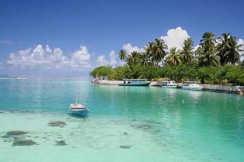 Đảo san hô Addu là nơi cao nhất ở Maldives. Ảnh: Travel Padi.