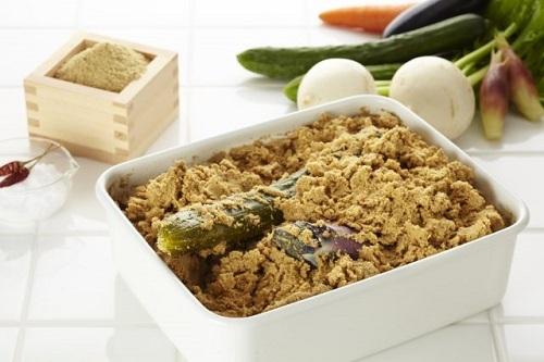 Rau củ được ủ với cám gạo là món khá khó ăn với thực khách mới đến Nhật Bản. Ảnh: Hakkola.