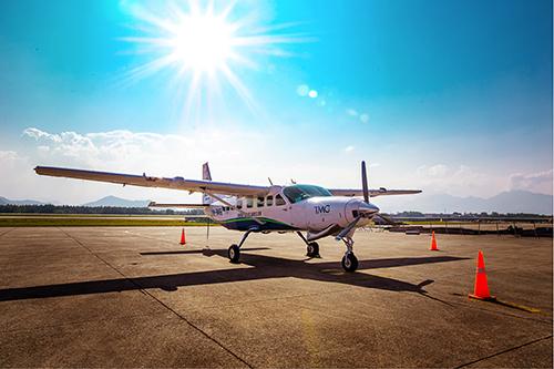 HAA sử dụng máy bay 12 chỗ Cessna Grand Caravan 208B-EX trong các chuyến bay của hãng. Ảnh: HAA.