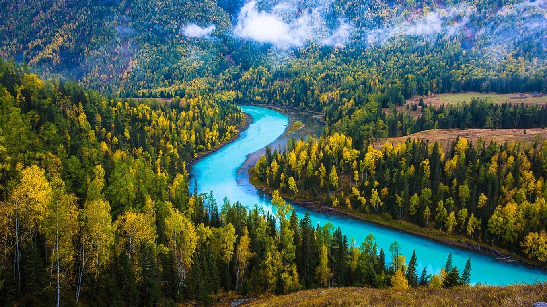 中国风景如画的自然景观