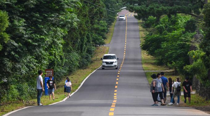 Con đường ôtô không nổ máy vẫn lên được dốc ở Hàn Quốc