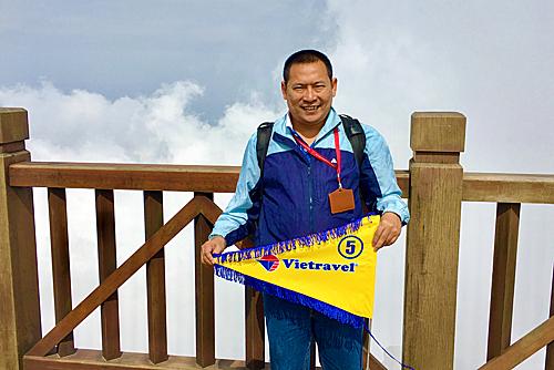 Nguyễn Nhật Trình là HDV chuyên các tour nội địa.
