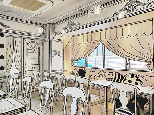 Quán cà phê như bước ra từ truyện tranh - ảnh 1