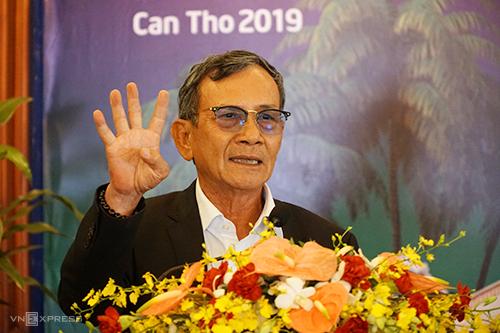 Ông Nguyễn Hữu Thọ - Chủ tịch Hiệp hội Du lịch Việt Nam. Ảnh: Phong Vinh.