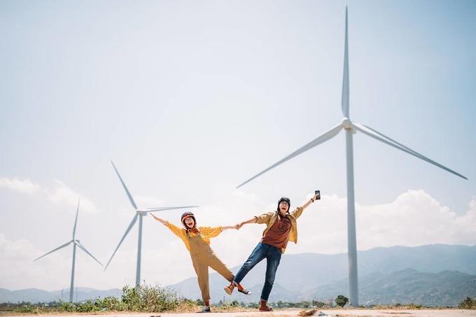Check-in cánh đồng điện gió