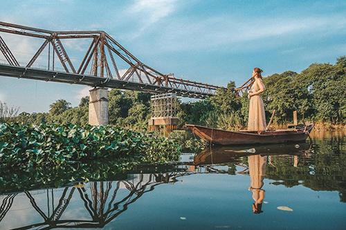 Cầu Long Biên, Hà NộiaẢnh: @crystal_huyen_trang.