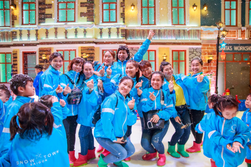 Thị trấn Tuyết ở TP HCM thay đổi diện mạo mới - ảnh 1
