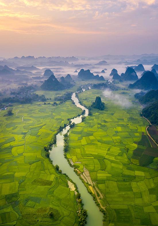 Mùa lúa chín bên sông Quây Sơn