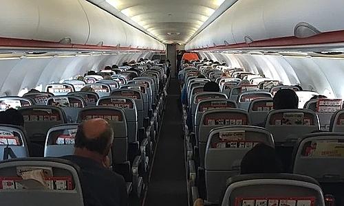 Nhiều người đã chỉ trích hành động cho con đi tiểu ngay tại ghế máy bay của cặp du khách. Ảnh:One Mile At A Time.