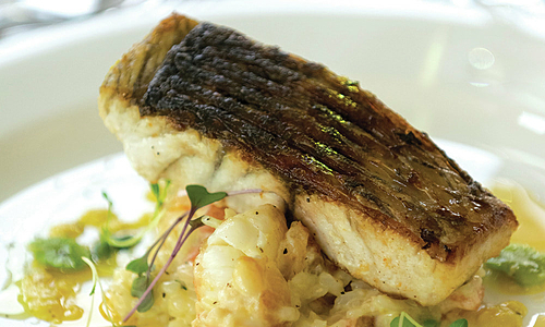 Cá chẽm tươi của Australia có thể được nướng, chiên hay làm khô da. Ngoài ra, bạn cũng có thể thưởng thức món khoai tây và cá tươi chiên. Bang Queenland là nơi có món cá tươi, ngon nhất trên cả nước. Ảnh: Golf Kitchen.