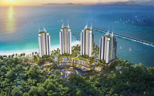 Phối cảnh dự án Sailing Bay Ninh Chữ dự kiến sắp khởi công.