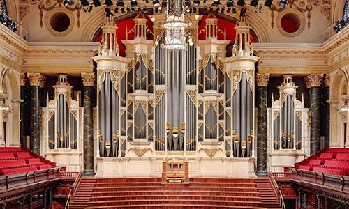 Cây đàn organ lớn nhất thế giới ở nhà hát. Ảnh:Adam Norris/The Brag.