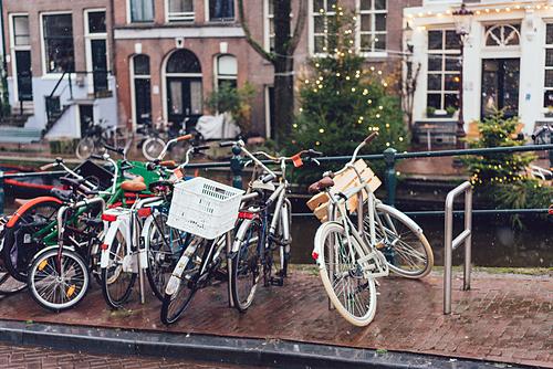 Thành phố có những con đường dành riêng cho xe đạp. Ảnh: Envato.