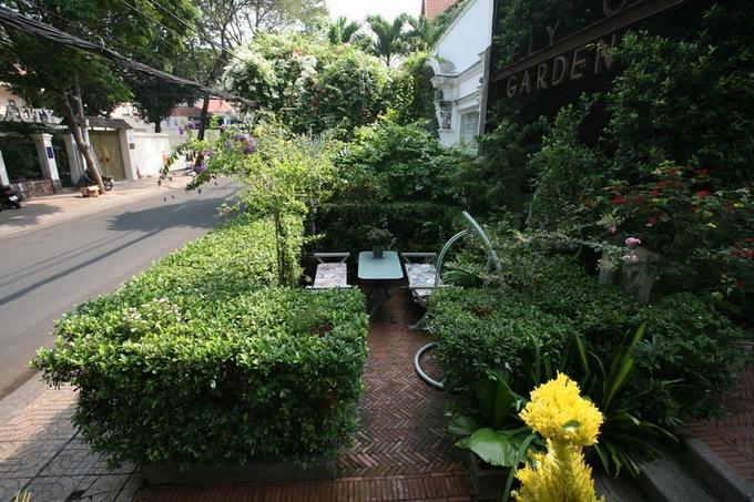 Quán cà phê dưới vòm cây xanh