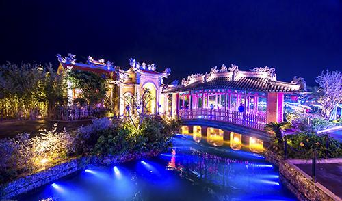 Khu vực tâm linh trong Công viên Văn hóa Chủ đề Ấn tượng Hội An. Ảnh: Quang Minh.