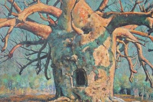 Bức tranh của Vlase Zanalis mang tênBoab Prison Tree Wyndham, bịchú thích sai lệchtrong một bài báo năm 1949. Ảnh:ABC.