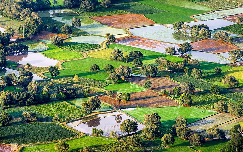 'Bức họa đồng quê' Tà Pạ nhìn từ trên cao