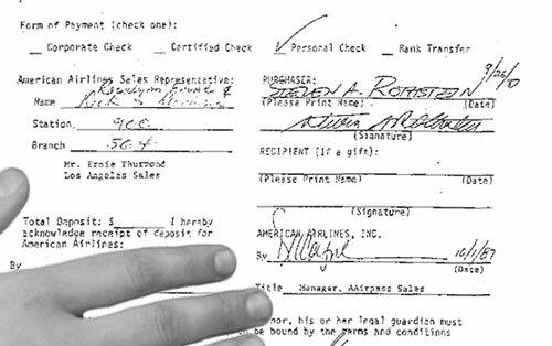 Tấm vé bay trọn đời của Rothstein. Ảnh: Rothstein/Hustle.