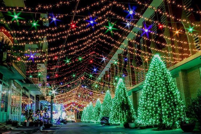 Con đường thu hút du khách dịp Noel