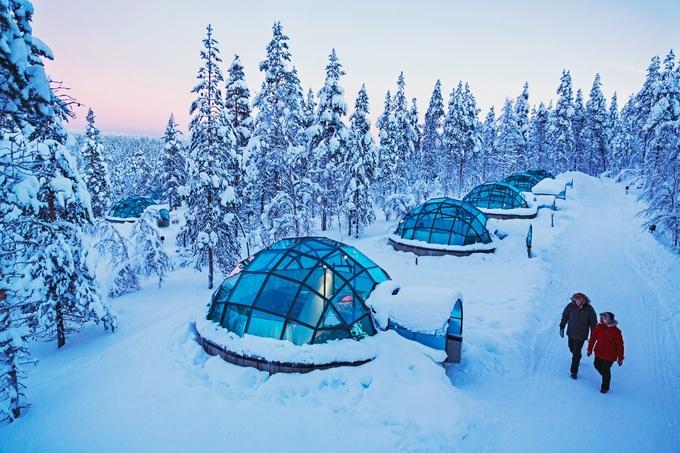 Nơi ngắm cực quang từ những căn lều thủy tinh
