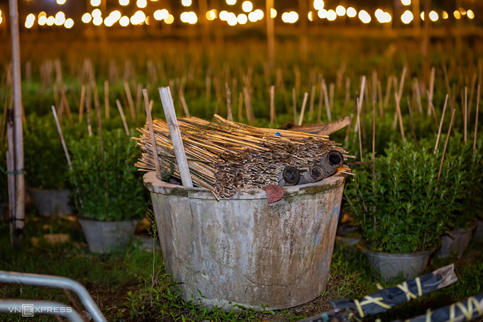 Làng hoa chong đèn chuẩn bị vụ hoa Tết