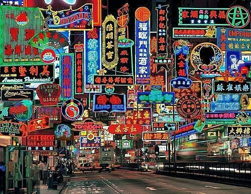 Đường Nathan nổi tiếng với con phố sầm uất và luôn rực rỡ sắc màu của các biển đèn led, đây cũng là nơi quay nhiều cảnh trong phim Chungking Express. Ảnh:u/Bioniclly/Reddit