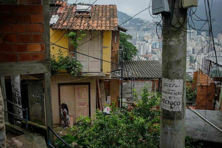 Khu ổ chuộtSanta Marta ở Rio de Janeiro. Ảnh: AFP.