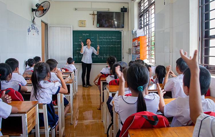 Trường tình thương Bình An bắt đầu tổ chức các lớp học miễn phí từ năm 2010. Ảnh: Thanh Trần.