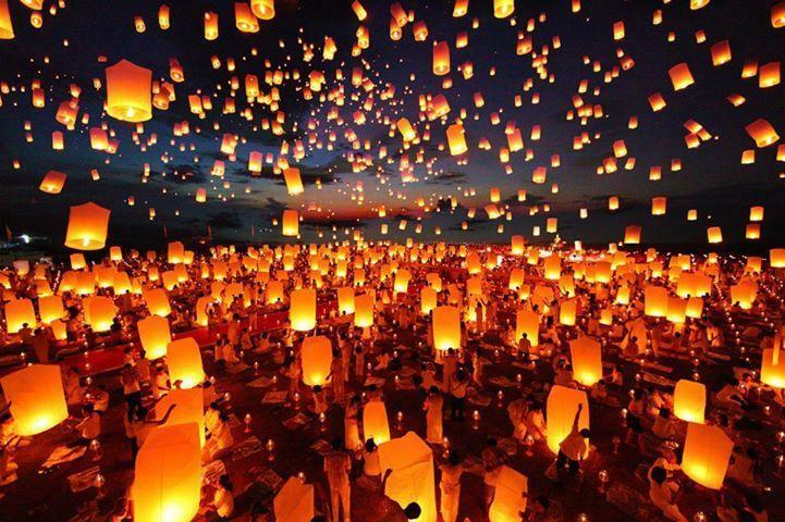 Lễ hội đèn trời Thập Phần. Ảnh: My Room Abroad Blog.