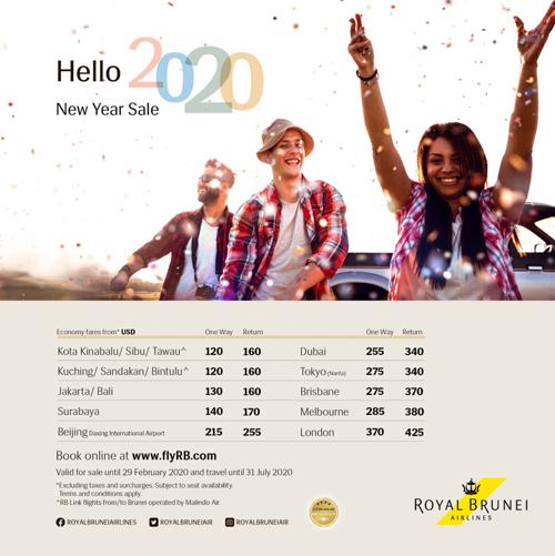 Royal Brunei Airlines tung loạt giá vé rẻ chào năm mới - ảnh 1
