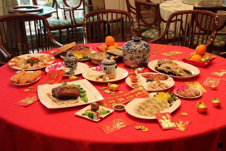 Mâm cơm ngày Tết của người Đài Loan. Ảnh:OCAC News.