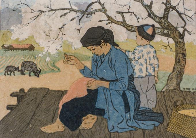 Tết Việt gần 60 năm trước qua tranh