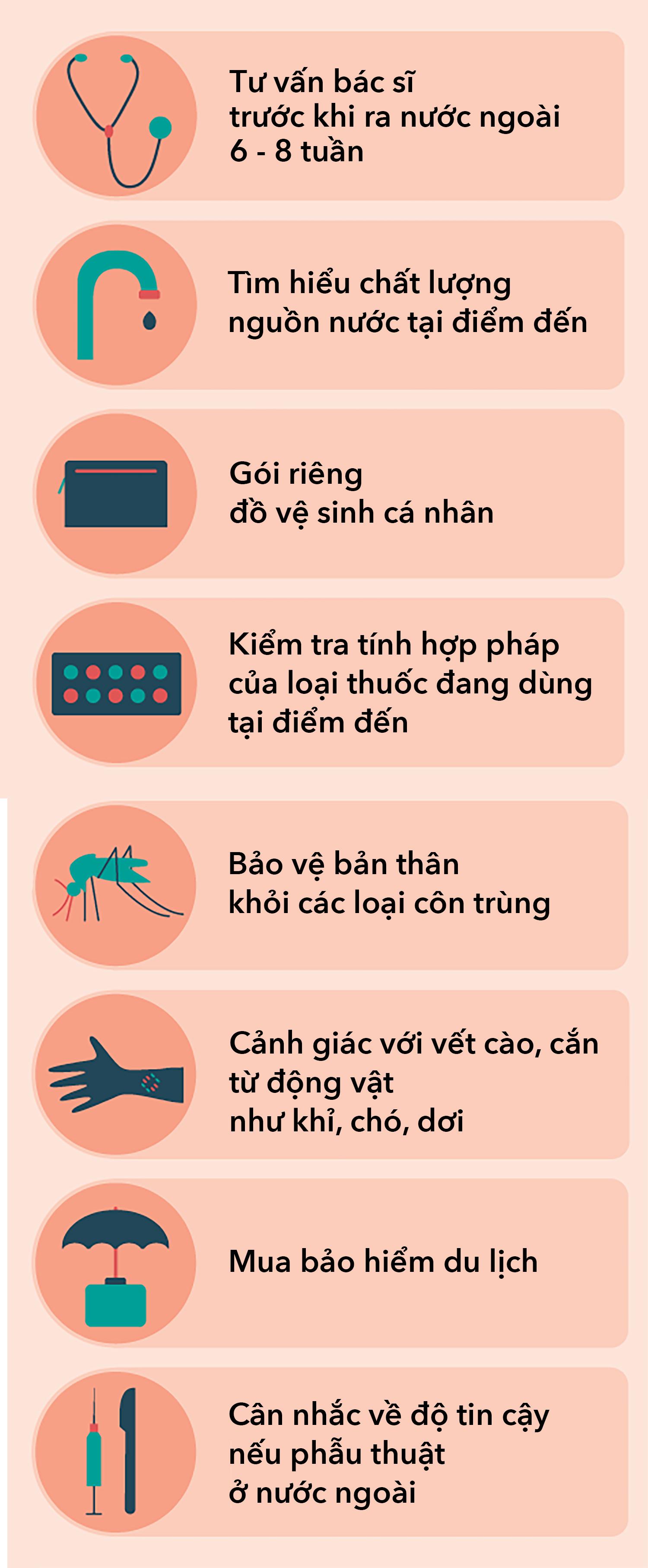 Cách bảo vệ sức khoẻ khi du lịch nước ngoài