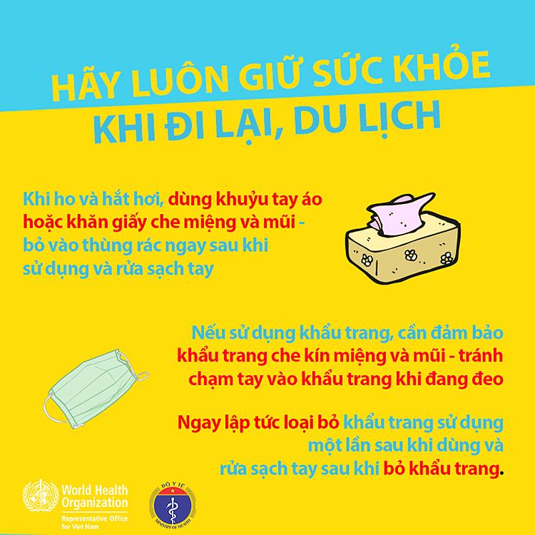 Nếu bị ốm khi du lịch, hãy thông báo với nhân viên hàng không, đường sắt, ô tô hoặc tìm đến cơ sở chăm sóc y tế. Ảnh: Bộ Y Tế.