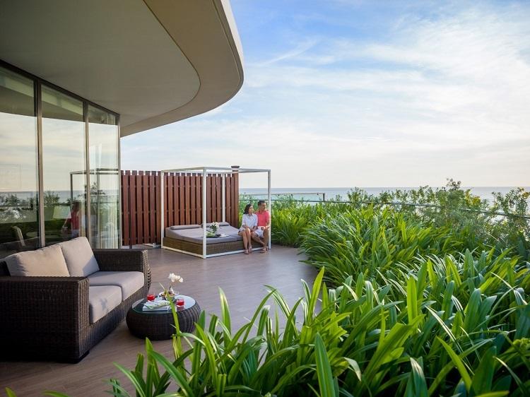 Không gian lãng mạn tại InterContinental Phu Quoc Long Beach thích hợp để nghỉ dưỡng.