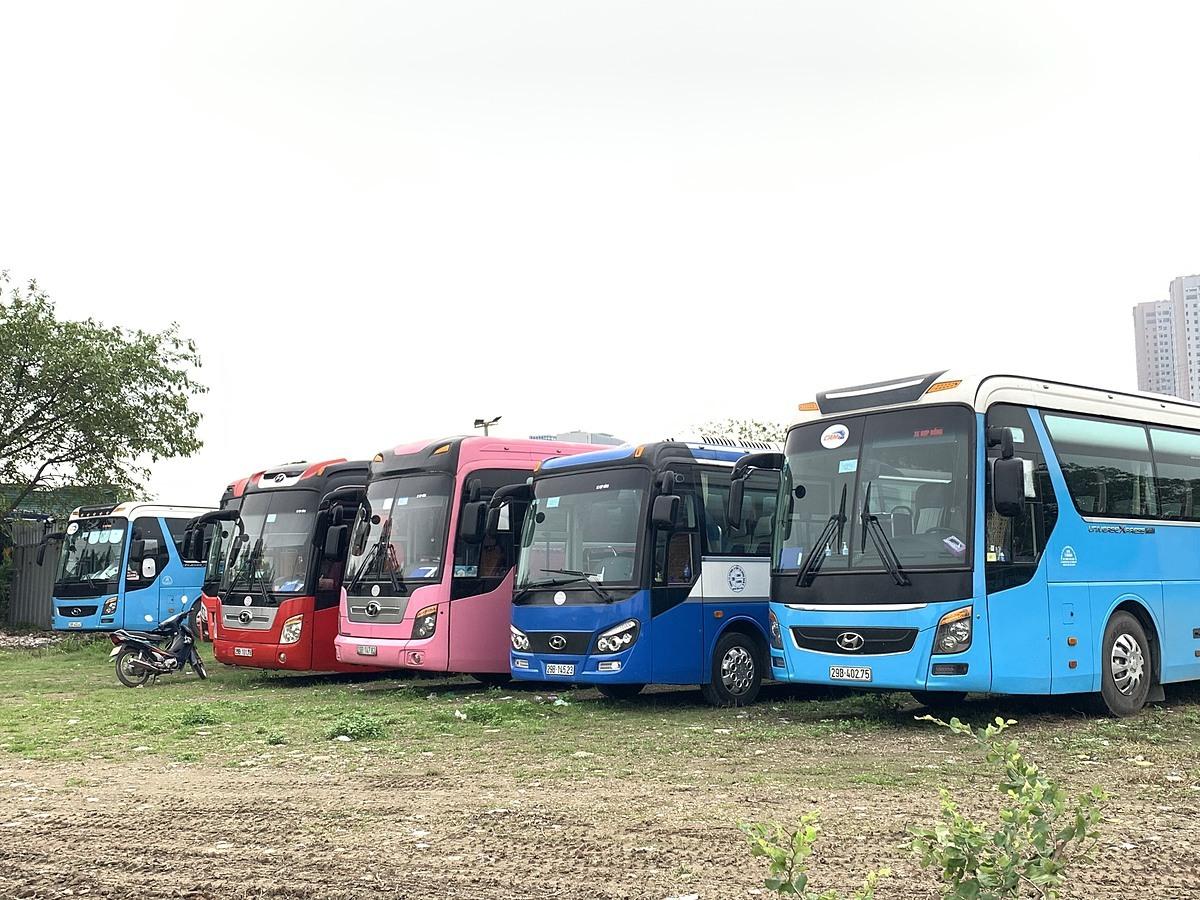 Thời điểm này, hầu hết xe vận chuyển du lịch đều nằm tại bến bãi. Ảnh được chụp ngày 23/3 tại bãi đỗ xe của công ty Thiên Thảo Nguyên. Ảnh:N.T.T.
