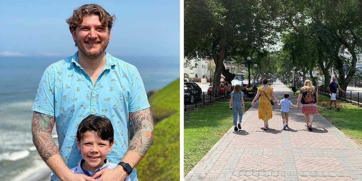 Gia đình Curry bị mắc kẹt tại Lima, Peru khi các chuyến bay bị hủy, nhiều nước đóng cửa biên giới. Ảnh: Jesse Curry.